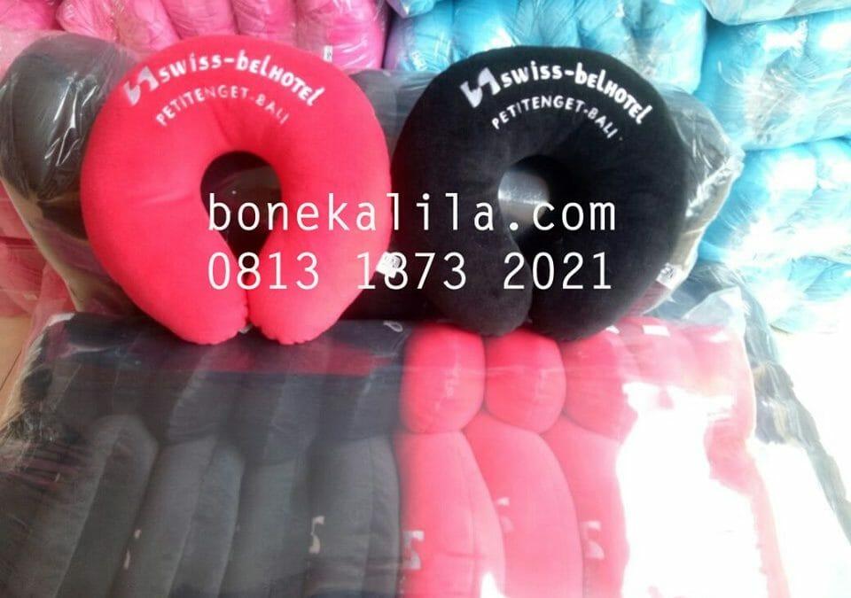 Souvenir Bantal Leher Custom Bank BNI | Pabrik Bantal Leher