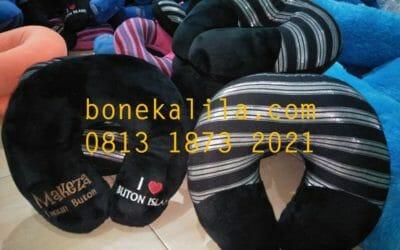 Souvenir Bantal Leher Love Buton | Produksi Bantal Leher