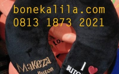 Souvenir Bantal Leher Makeza Buton | Produksi Bantal Leher