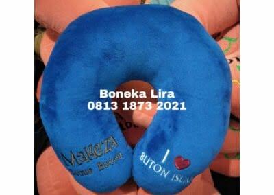 souvenir bantal leher makeza buton-produksi bantal leher