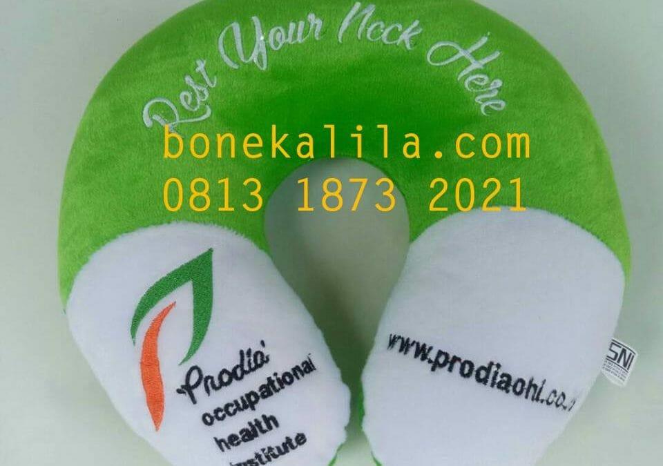 Souvenir Bantal Leher Prodia | Pabrik Bantal Leher