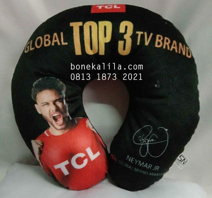 Souvenir Bantal Leher TCL | Produksi Bantal Leher