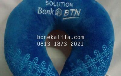 Souvenir Bantal Leher Bank BTN | Pengrajin Bantal Leher