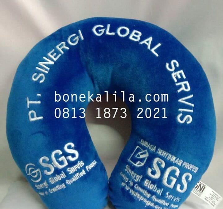 Souvenir Bantal Leher Perusahaan SGS 0813 1873 2021