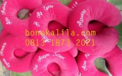 Souvenir Bantal Leher Ulang Tahun | Pabrik Bantal Leher